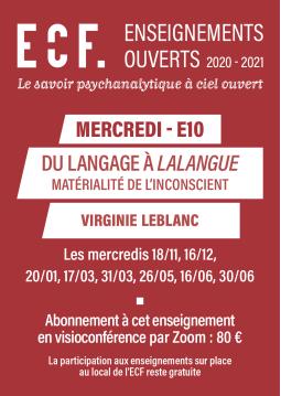 E10-Du langage à lalangue :...