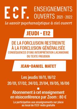 E12-De la forclusion...