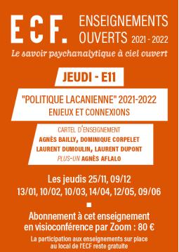 E11-Politique lacanienne,...