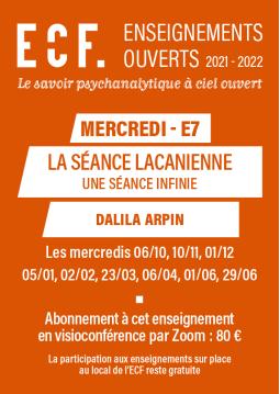 E7-La séance lacanienne,...