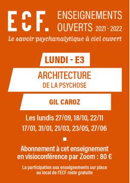 E3-Architecture de la psychose